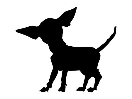 Silhouette of chihuahua Illustration