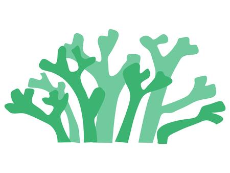 Silhouette of seaweed Illustration