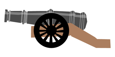 Vector illustration of cannon