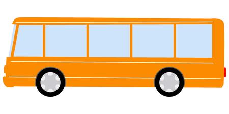 Vektor, Karikaturillustration des Stadtbusses Vektorgrafik