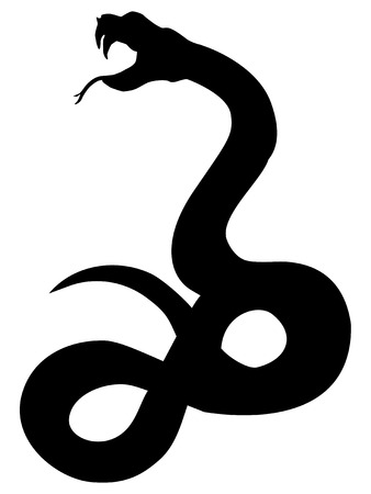 silhouette of snake