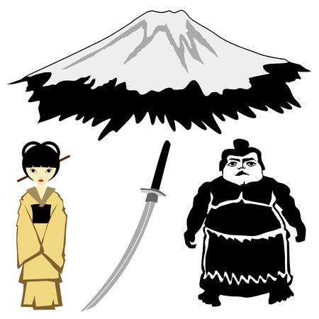 set of vector illustrations of character motives Illustration