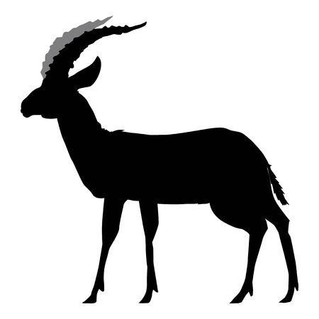 silhouette of gazelle Illustration