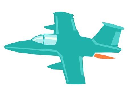vector illustration of military jet airplane Illustration