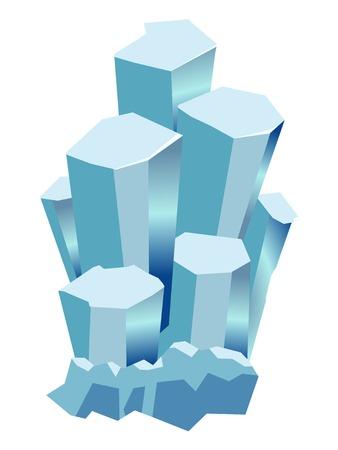 gemstone: vector, coloured illustration of aquamarine