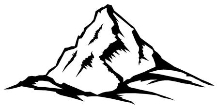 Vector illustration of mountain peak.