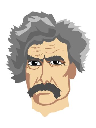 vector illustration of Mark Twain