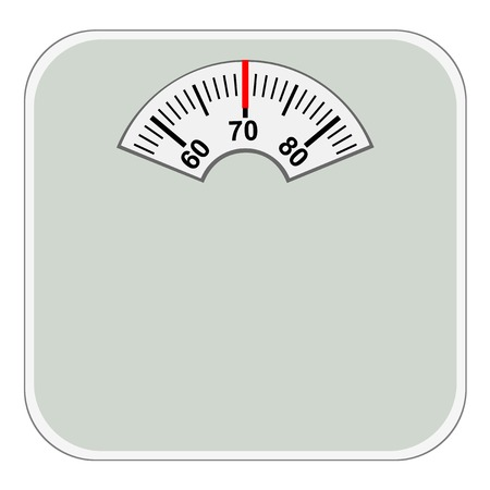 Floor scale icon.