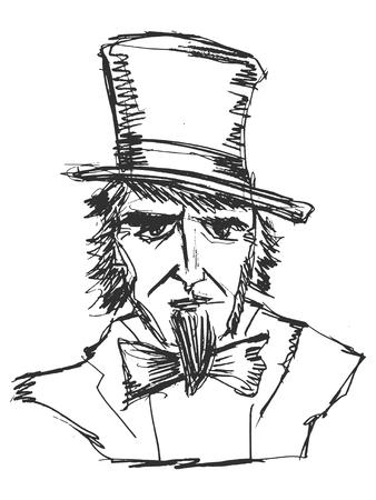 sketch illustration of Uncle Sam