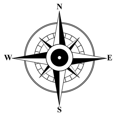 Compass, motive of travel, sea, orientation