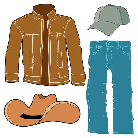 set of men clothes, motive of fashion, style, lifestyle