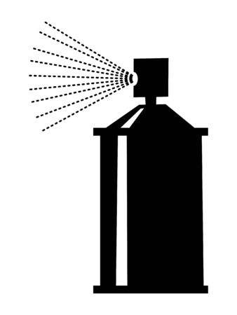 silhouette of spray, domestic motive