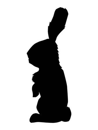 silhouette of rabbit, wildlife motive Vektoros illusztráció