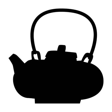 Vector silhouette of Chinese teapot. Motives of traditional culture, tea ceremony