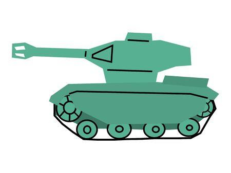 vector, colored illustration of toy tank Иллюстрация