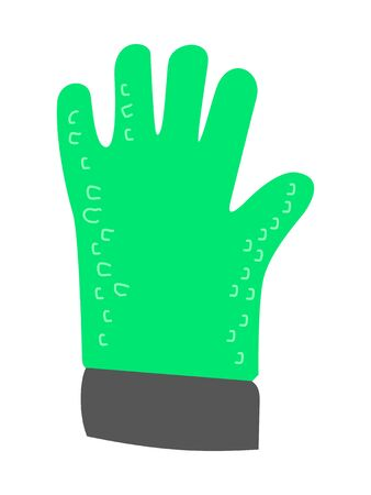vector, colored illustration of oven heat glove, used on kitchen for cooking Иллюстрация