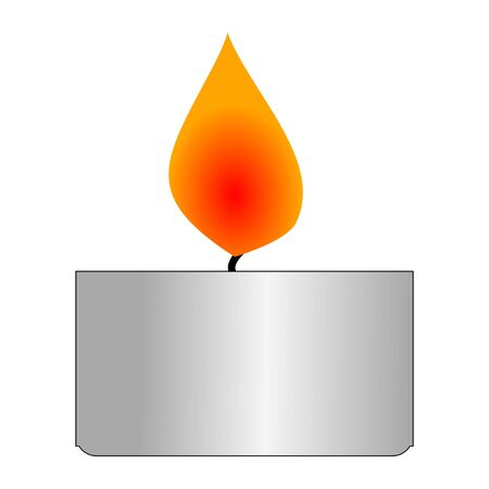 Vector illustration of aromatic candle. Topics of relaxation, rest, oriental practice