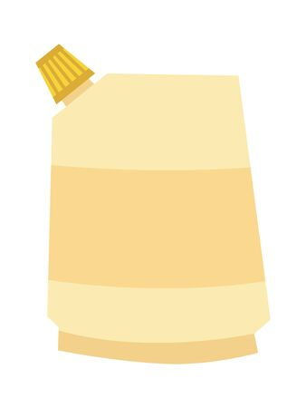 Vector, colored illustration of mayonnaise. Topics of food and drinks, cooking, objects