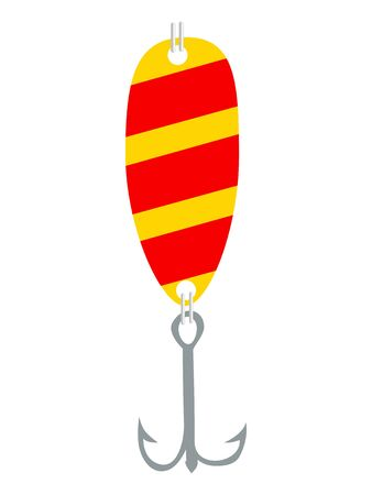 Vector, colored illustration of fishing lure. Topics of fishing, leisure, objects