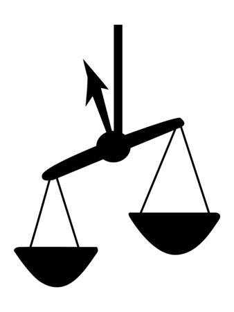 Vector silhouette of Libra. Zodiac sign. Motives of astrology, astronomy, zodiac, symbols, destiny, mythology Illusztráció