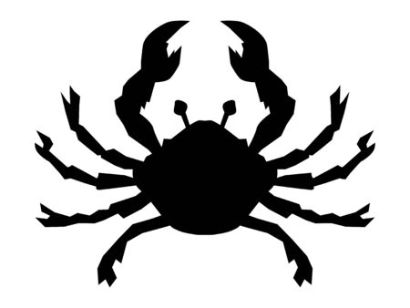 Vector silhouette of Scorpio. Zodiac sign. Motives of astrology, astronomy, zodiac, symbols, destiny, mythology