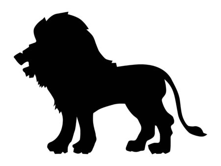Vector silhouette of Leo. Zodiac sign. Motives of astrology, astronomy, zodiac, symbols, destiny, mythology