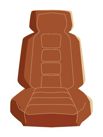 Vector, colored illustration of car seat, front view. Topics of transportation, car accessory, automobile