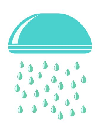 Vector, colored illustration of shower. Motives of hygiene, household items, daily use