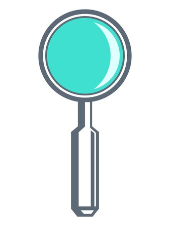 Vector illustration of loupe. Motives of enlarging, searching, attention