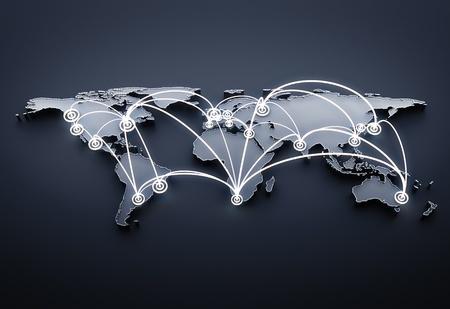 business partner: 3d render global business concept