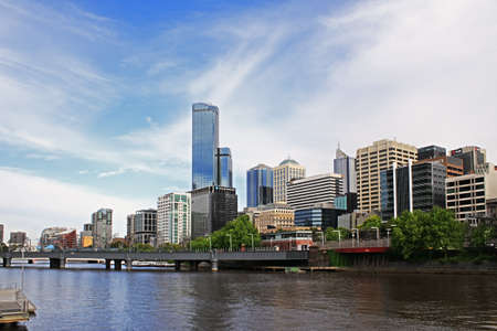 gibbous: Beautiful view of Melbourne city