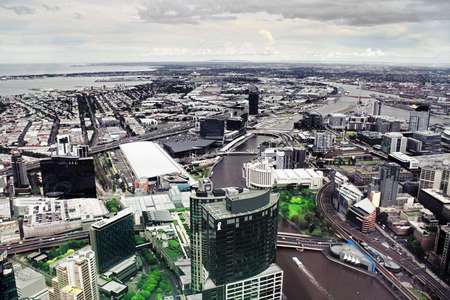Beautiful view of Melbourne city photo