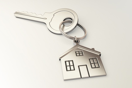 House shaped keychain photo