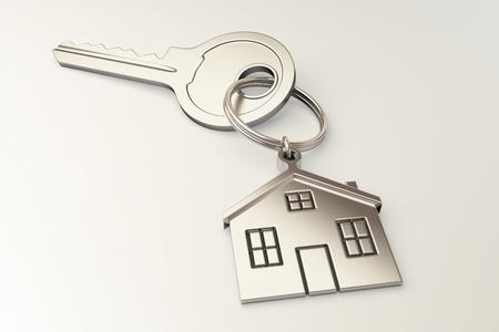 House shaped keychain photo