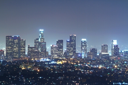 Los Angeles downtown at night photo