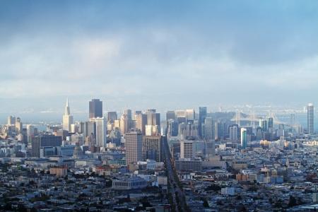 San Francisco downtown at  sunset Stock Photo
