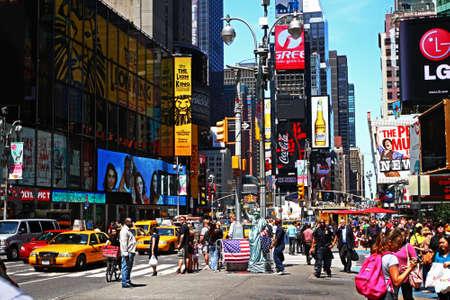 new york time: Times Square en d�a Foto de archivo