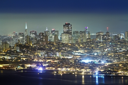 San Francisco downtown at night photo