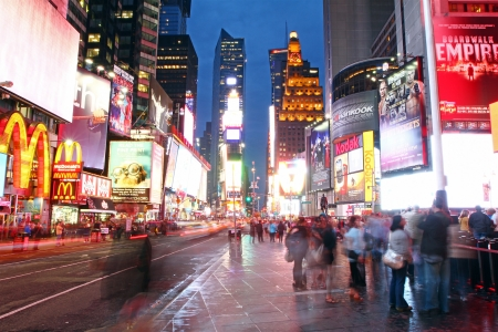 Times Square at evening
