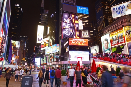 busy city: Times Square at night Editorial