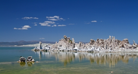 Mono lake panorama at day, southern California photo