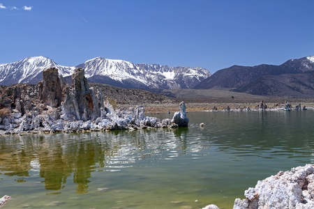 beautiful  Mono lake, southern California photo