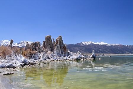 lost lake: beautiful  Mono lake panorama at day, southern California Stock Photo