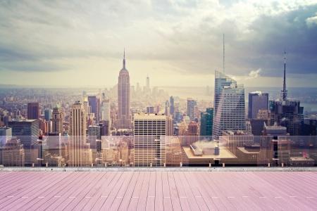 屋根からの美しい眺め、ニューヨーク市 写真素材