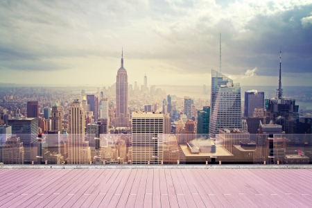New York city, beautiful view from roof