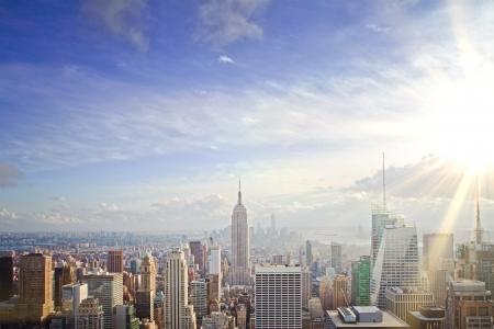 New York skyline at sunset Stock Photo - 22696065