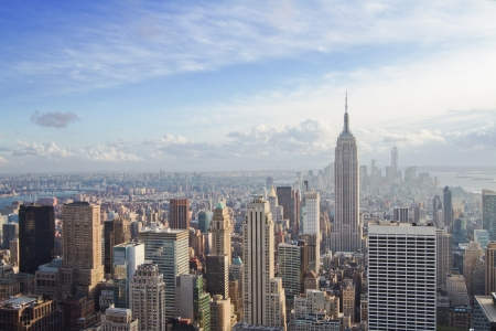 beautiful view of New York city Stock Photo