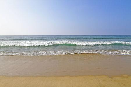 beautiful beach and tropical ocean