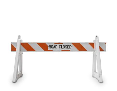 白の背景に道路閉鎖シンボル
