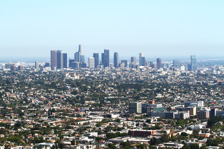 los angeles panorama at daytime photo